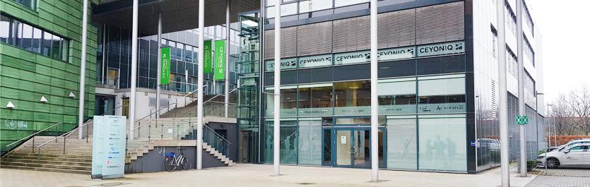 Gebäude vom COMCAVE.COLLEGE Standort Bielefeld