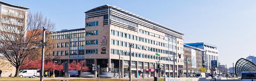 Gebäude vom COMCAVE.COLLEGE Standort Chemnitz