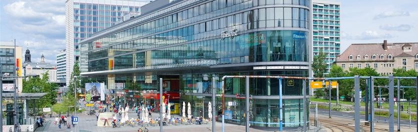 Gebäude vom COMCAVE.COLLEGE Standort Dresden