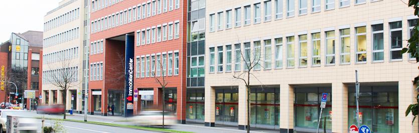 Gebäude vom COMCAVE.COLLEGE Standort Duisburg