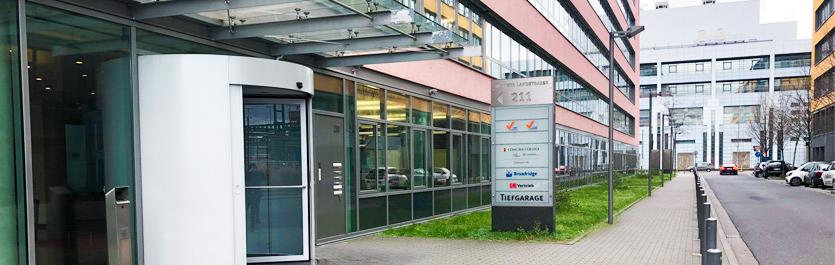 Gebäude vom COMCAVE.COLLEGE Standort Frankfurt