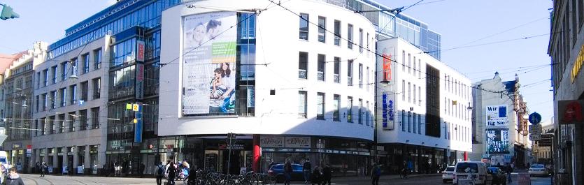 Gebäude vom COMCAVE.COLLEGE Standort Halle an der Saale