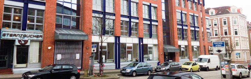 Gebäude vom COMCAVE.COLLEGE Standort Kiel