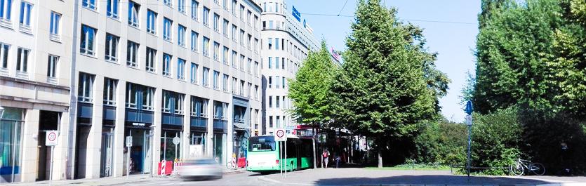 Gebäude vom COMCAVE.COLLEGE Standort Leipzig