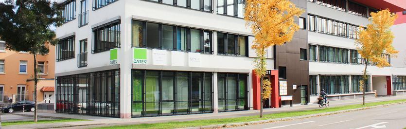 Gebäude vom COMCAVE.COLLEGE Standort Mannheim