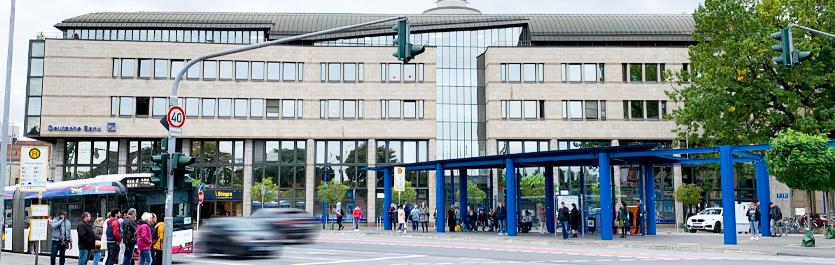 Gebäude vom COMCAVE.COLLEGE Standort Mönchengladbach