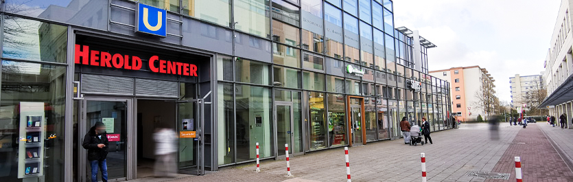 Gebäude vom COMCAVE.COLLEGE Standort Norderstedt