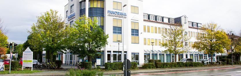 Gebäude vom COMCAVE.COLLEGE Standort Rosenheim