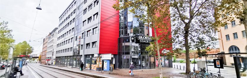 Gebäude vom COMCAVE.COLLEGE Standort Saarbrücken