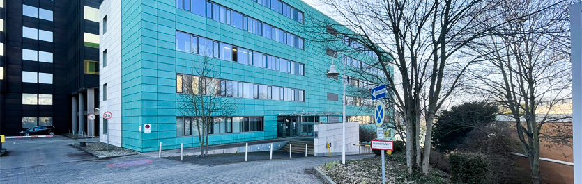 Gebäude vom COMCAVE.COLLEGE Standort Wiesbaden
