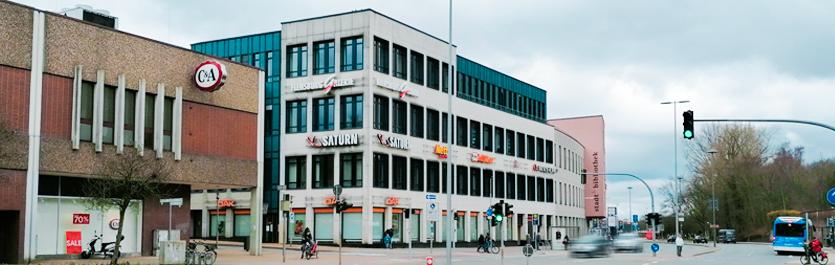 Gebäude vom COMCAVE.COLLEGE Standort Flensburg