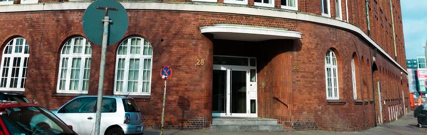 Gebäude vom COMCAVE.COLLEGE Standort Hamburg