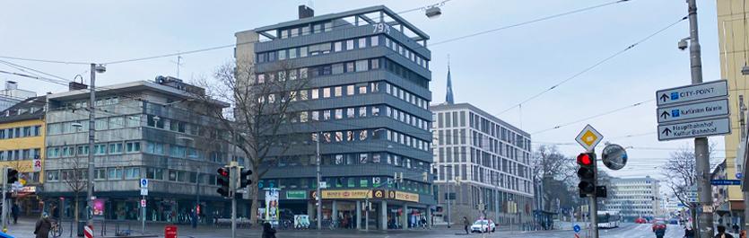 Gebäude vom COMCAVE.COLLEGE Standort Kassel
