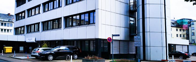 Gebäude vom COMCAVE.COLLEGE Standort Koblenz
