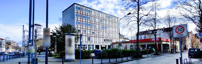 Gebäude vom COMCAVE.COLLEGE Standort Offenbach