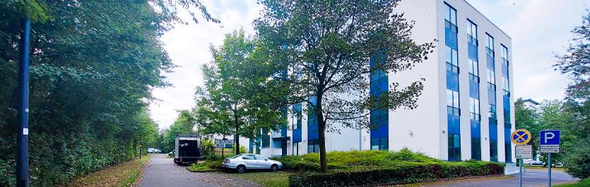 Gebäude vom COMCAVE.COLLEGE Standort Paderborn